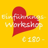 Bild mit Herz und Text: Einführungsworkshop € 180,-
