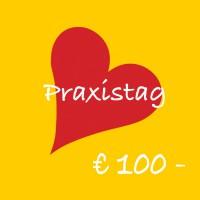 Bild von Herz mit Text: Praxistag € 100,-